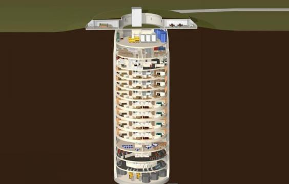 Tổ hợp hầm trú ẩn gồm 15 tầng. (Ảnh: Independent)
