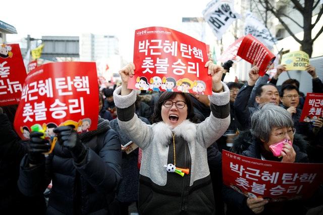 Bà Park nhậm chức ngày 25/2/2013 với nhiệm kỳ 5 năm. Bà bị phế truất khi nhiệm kỳ tổng thống còn gần 1 năm. (Ảnh: Reuters)