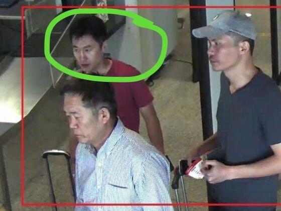 Nghi phạm Hang Song Hac (khoanh tròn) lấy tên gọi là Chang, bị nghi là một trong bốn chủ mưu vụ sát hại công dân Triều Tiên. (Ảnh: CNA)
