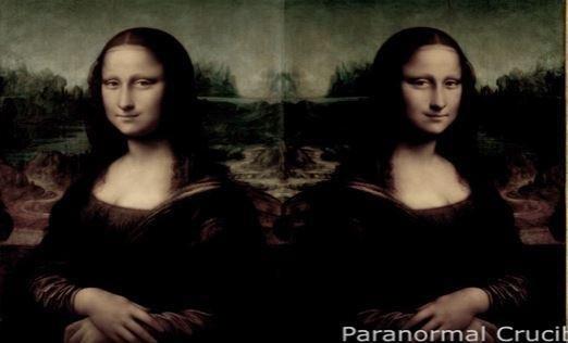 Thứ được gọi là khuôn mặt người ngoài hành tinh ẩn này có thể nhìn thấy khi bức họa được chiếu qua gương.