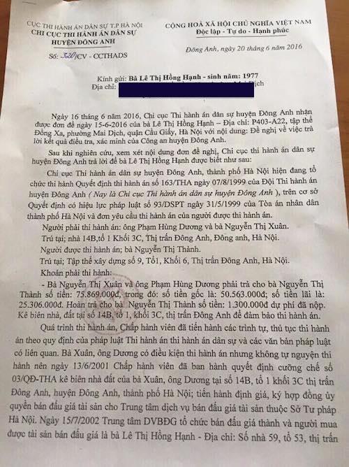 Hà Nội: Những dấu mốc khó hiểu trong vụ thi hành án lạ kỳ tại huyện Đông Anh - 2