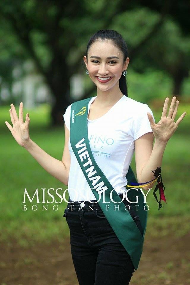 Hà Thu được xem là một trong những thí sinh ăn hình nhất tại cuộc thi Hoa hậu Trái đất 2017