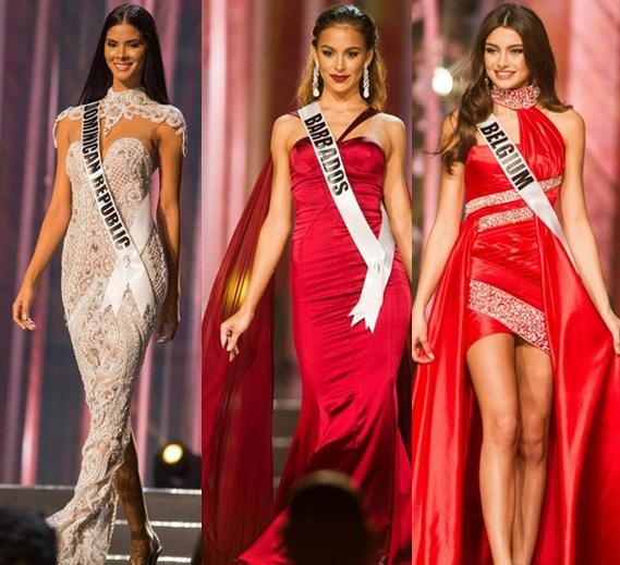 Hoa hậu Dominica, Barbados, Bỉ nổi bật tại cuộc thi hoa hậu hoàn vũ năm nay.