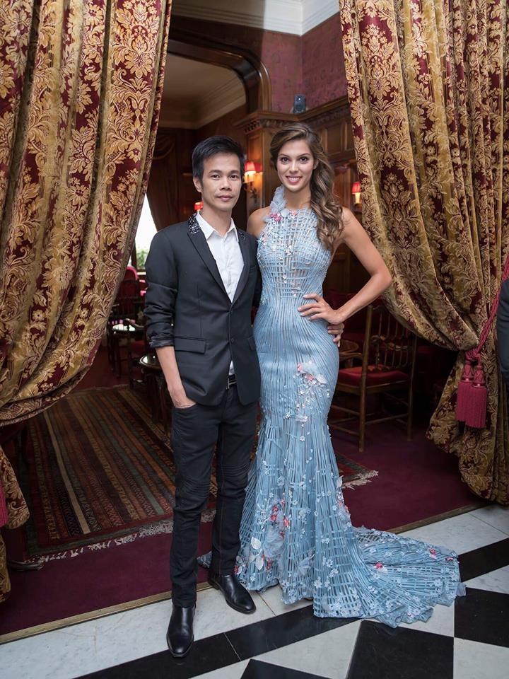 Tân Hoa hậu Hoàn vũ diện trang phục của thiết kế Việt Nam khi đăng quang - 5