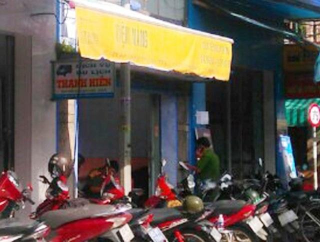 Tiệm vàng nơi xảy ra vụ việc.