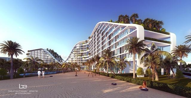 The Coastal Hill được thiết kế như làn sóng nhấp nhô tạo nên những đường cong tuyệt đẹp