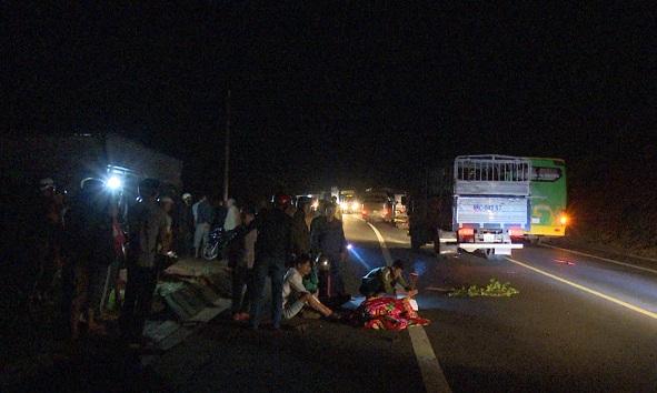 Hiện trường vụ tai nạn khiến nam thanh niên tử vong tại chô