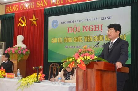 Ông Thân Đức Lại - Giám đốc BHXH tỉnh Bắc Giang (Ảnh: Website Bảo hiểm xã hội tỉnh Bắc Giang)