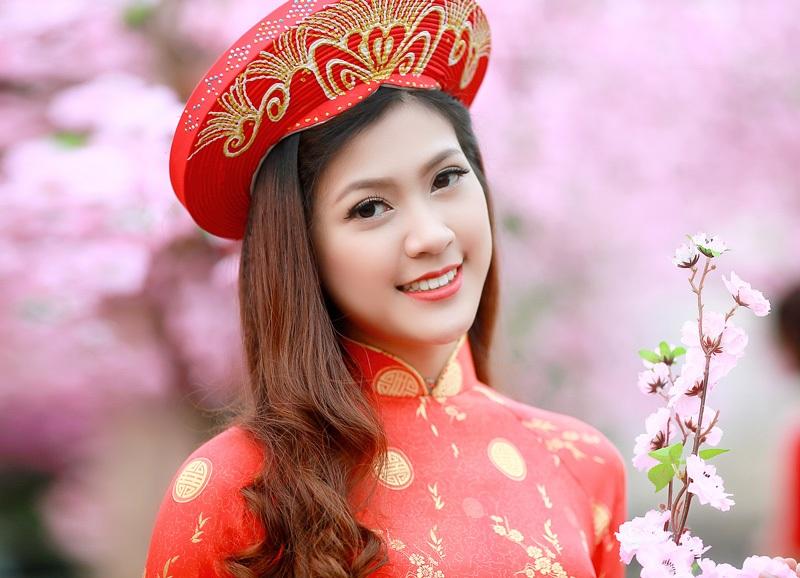 Dàn hoa khôi lộng lẫy trong trang phục áo dài đón Xuân - 4