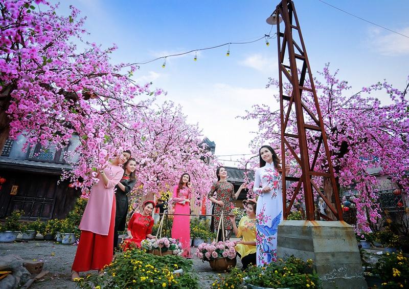 Dàn hoa khôi lộng lẫy trong trang phục áo dài đón Xuân - 6