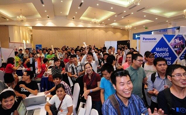 Hội chợ việc làm Japanworks thu hút nhiều ứng viên giỏi tiếng Nhật.