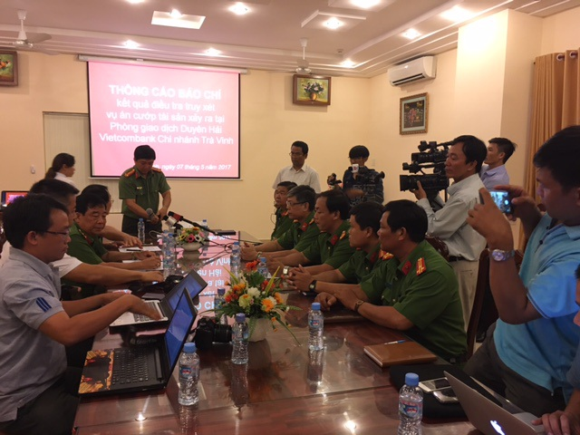 Cuộc họp báo do Công an tỉnh Trà Vinh tổ chức
