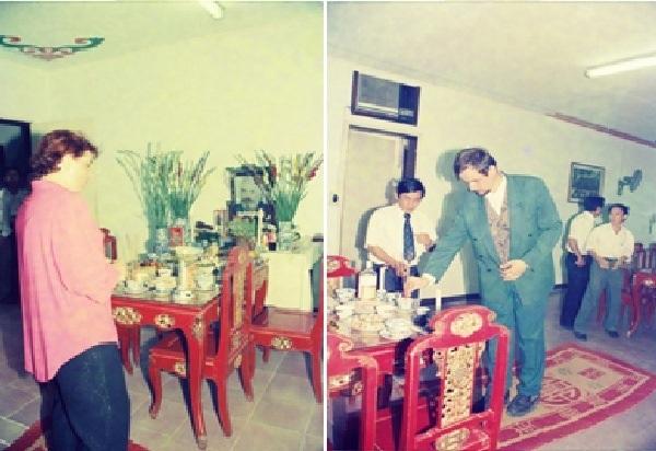 Những hình ảnh trong buổi lễ truy điệu kiến trúc sư Kazik được tổ chức tại Huế vào chiều 21/3/1997