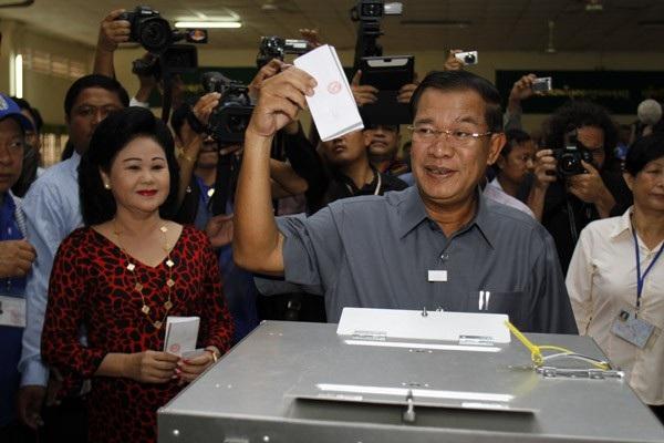 Thủ tướng Campuchia Hun Sen (Ảnh: Xinhua)