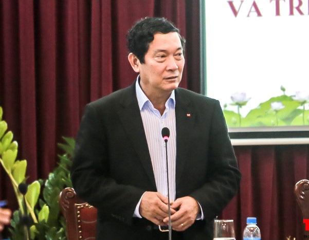 Thứ trưởng Huỳnh Vĩnh Ái tại một cuộc họp. Ảnh: TQ.