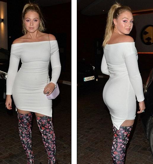 Người mẫu nổi tiếng nước Anh Iskra Lawrence dự tuần lễ thời trang London tối 17/9 vừa qua