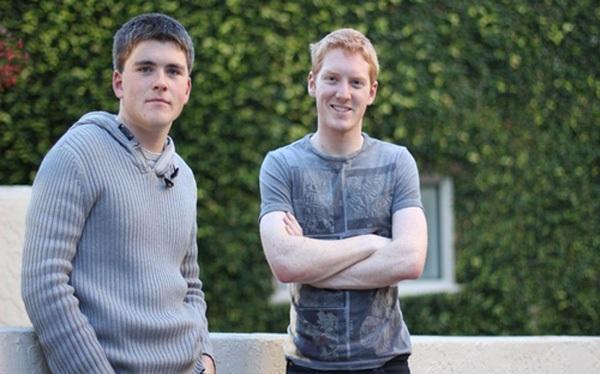 Hai anh em Patrick và John Collison - Ảnh: The Irish Times.