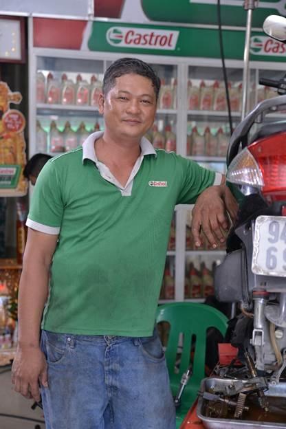 Anh Hoàng Vũ - chủ cửa hàng sửa xe Bike Point Hoàng Vũ chia sẻ về nghề nghiệp của mình