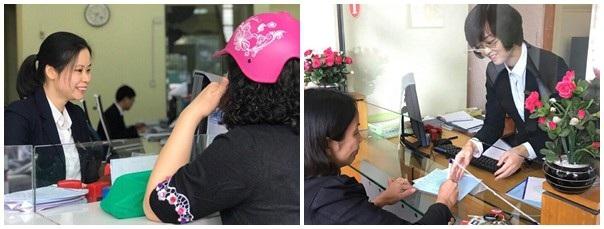 Hai nữ nhân viên ngân hàng đã giúp nhiều khách hàng thoát bẫy lừa đảo (ảnh Cổng TTĐT Quảng Ninh)