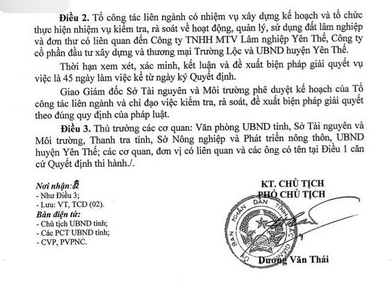 Thanh tra toàn diện việc quản lý, sử dụng đất rừng tại huyện Yên Thế.