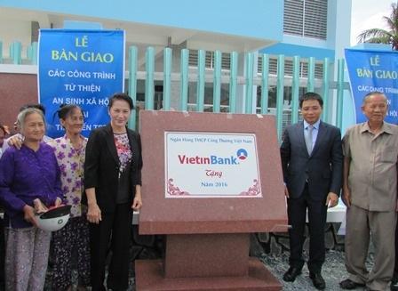 Chủ tịch Quốc hội dự lễ khánh thành trạm y tế xã Hưng Nhượng do VietinBank tặng