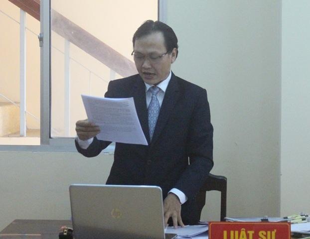 Luật sư Lê Quang Vũ, người bảo vệ quyền lợi cho bệnh nhân Hứa Cẩm Tú
