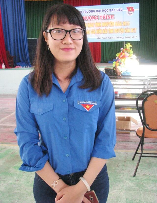 Nữ sinh Nguyễn Thị Mỹ Xuyên đã có 15 lần tham gia hiến máu tình nguyện.