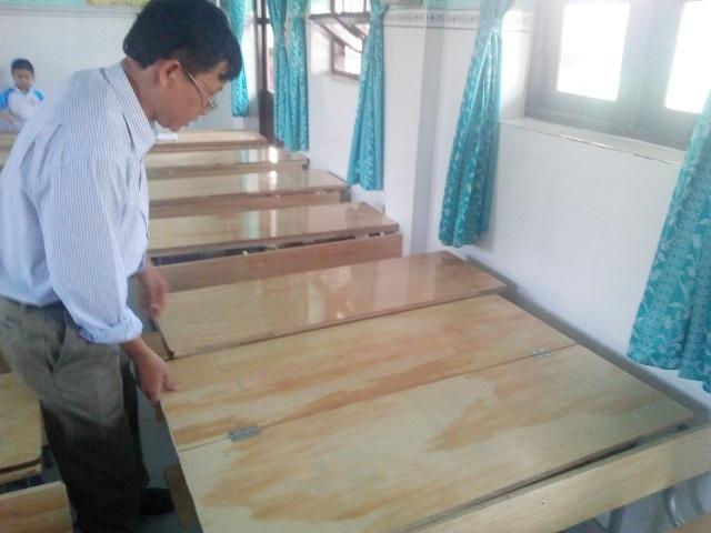 Ông Huỳnh Hữu Nghĩa - Hiệu trưởng trường Tiểu học Trần Phú- khẳng định, các khoản đóng góp là đúng với chủ trương xã hội hóa của ngành, địa phương.