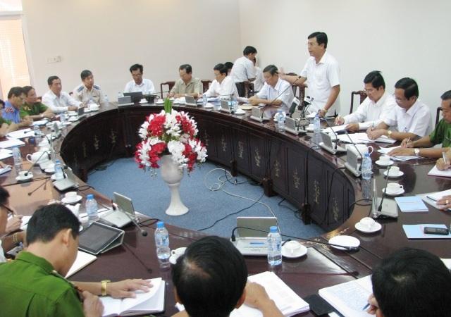Một cuộc họp của UBND tỉnh Cà Mau. (Ảnh minh họa)