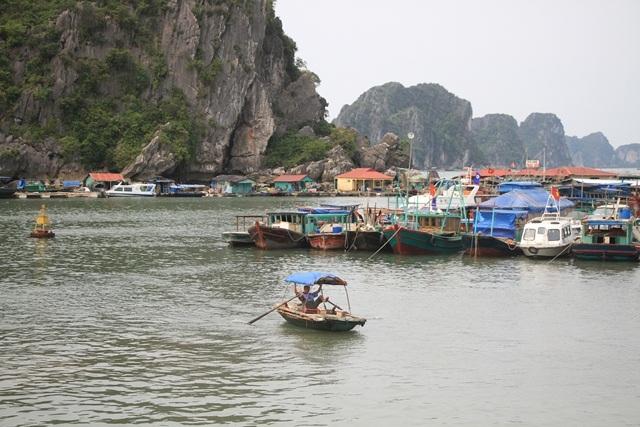 Từ cảng Cái Rồng (huyện Vần Đồn, Quảng Ninh) đến Cô Tô mất một giờ đồng hồ bằng tàu cao tốc