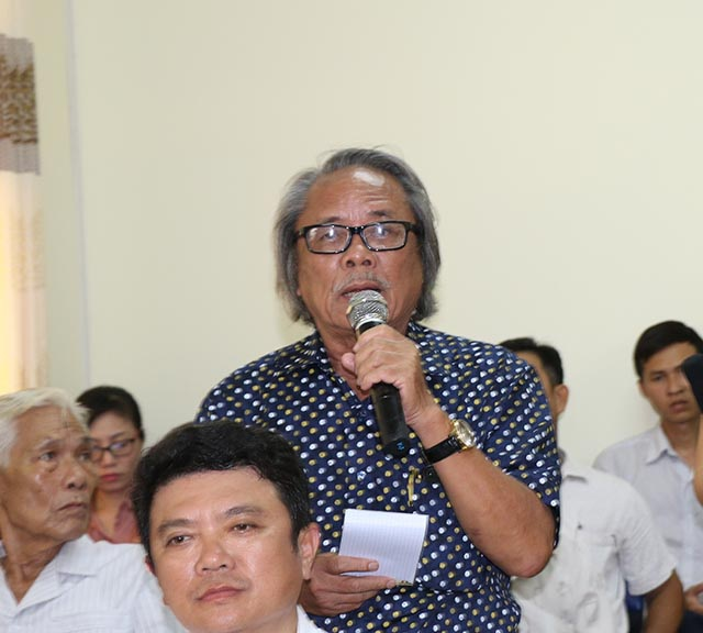 Cử tri Phan Huy nêu các thắc mắc của mình