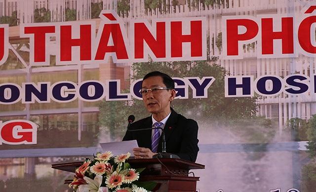 Ông Võ Thành Thống - Chủ tịch UBND TP Cần Thơ phát biểu tại lễ khởi công