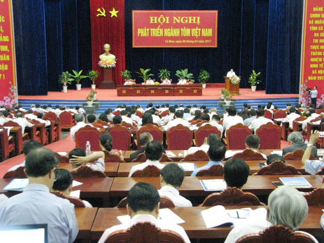 Hội nghị phát triển ngành tôm Việt Nam được tổ chức ngay sau Tết Nguyên đán 2017.