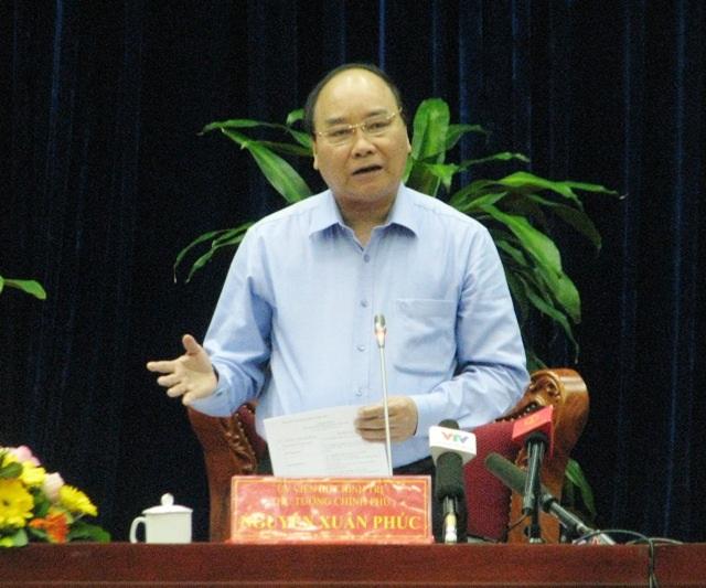 Thủ tướng Nguyễn Xuân Phúc phát biểu tại Hội nghị phát triển ngành tôm Việt Nam ngày 6/2 tổ chức tại tỉnh Cà Mau.