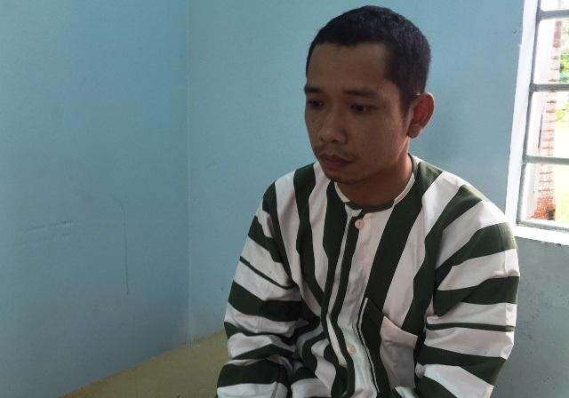 Nghi phạm Lê Lâm Hưng tại trại tạm giam