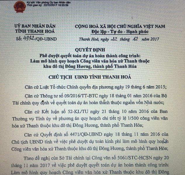 Thanh Hóa rút chữ ký của ông Ngô Văn Tuấn về dự án mô hình công viên - 5