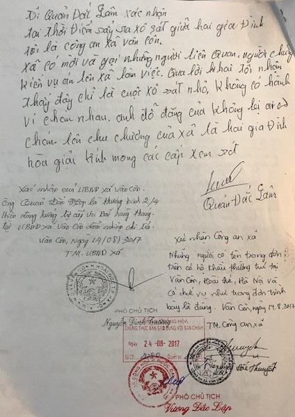 Nguyên cán bộ và nhân dân thôn Vân Côn đồng loạt đề nghị minh oan cho các bị cáo và sẵn sàng ra làm chứng trước tòa.