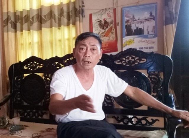 Ông Nguyễn Ngọc Tân, nguyên Chủ tịch UBND xã Quảng Chính - người đã trực tiếp ký giấy vay nợ dân