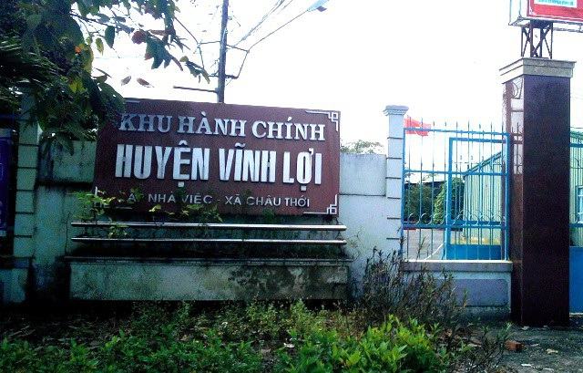 Khu hành chính huyện Vĩnh Lợi, nơi có cơ quan ông N.V.K. công tác.