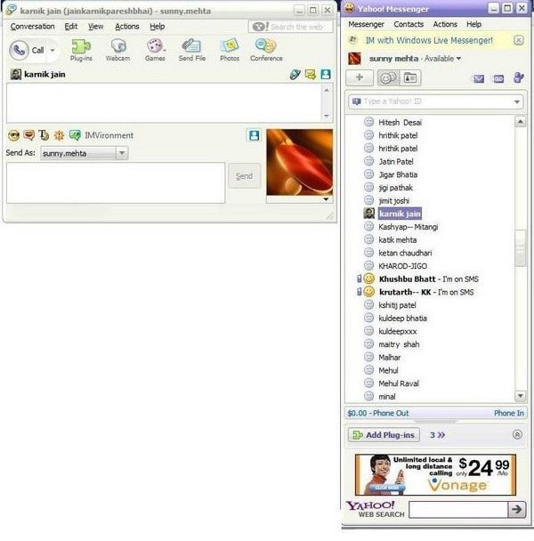 Tuy nhiên, nhắc đến phần mềm chat phổ biến nhất Việt Nam trong những ngày đầu sử dụng Internet, thì chắc chắn đó sẽ là Yahoo Messenger. Vào những năm 2000, gần như chắc chắn mỗi người dùng Internet tại Việt Nam đều sở hữu một hộp thư Yahoo và một tài khoản Yahoo Messenger, cùng những nick chat độc đáo thể hiện cá tính của bản thân.