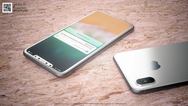 Nút Home vật lý và viền màn hình đã biến mất hoàn toàn trên iPhone 8 trong bản dựng của Martin Hajek