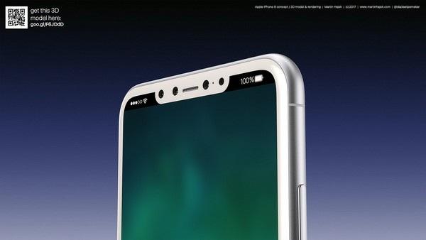 Cận cảnh bản dựng hoàn chỉnh tuyệt đẹp của iPhone 8 - 7