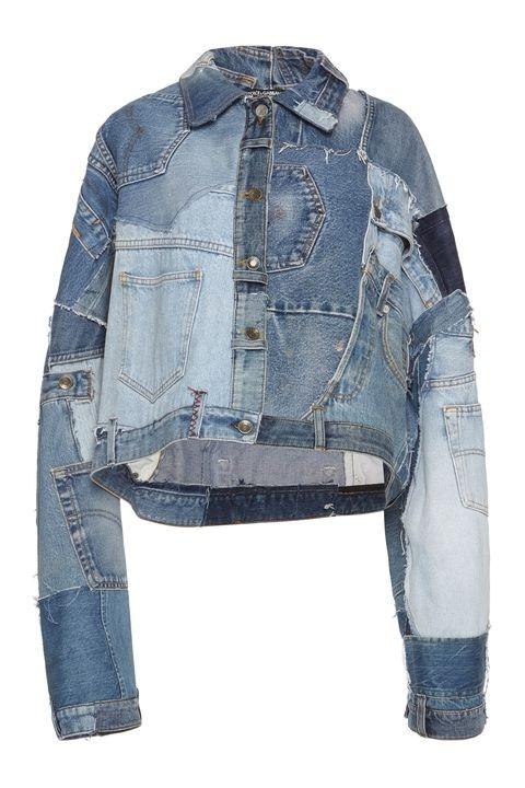 Áo khoác Jeans với những miếng vải bò khác màu chắp ghép nghệ thuật của D&G