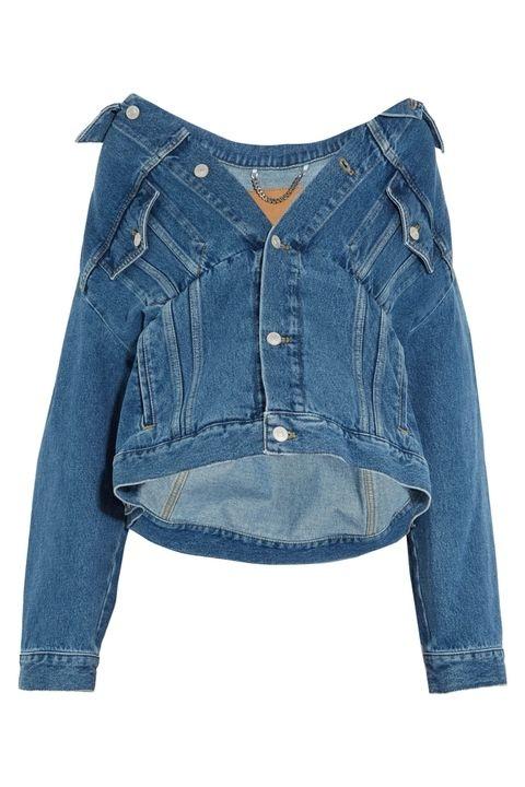 Áo Jeans trễ vai của Balenciaga