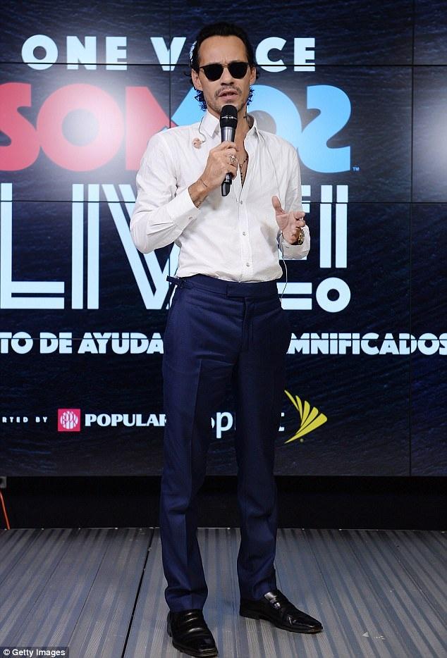 Cùng dự sự kiện gây quỹ từ thiện này còn có chồng cũ của J.Lo - ca sỹ Marc Anthony