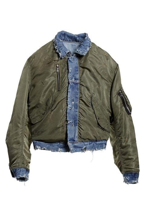Chiếc áo phao viền vải bò có giá siêu đắt (hơn 3 nghìn USD) của Amiri