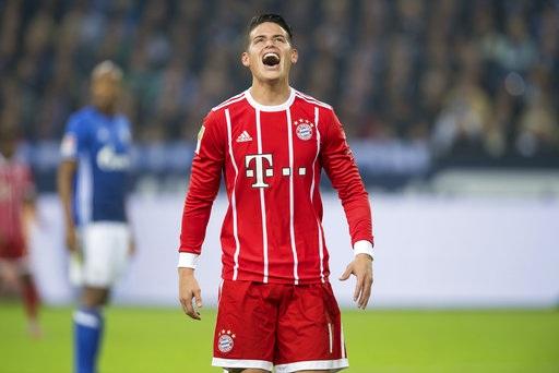 James Rodriguez ghi bàn thắng đầu tiên cho Bayern Munich