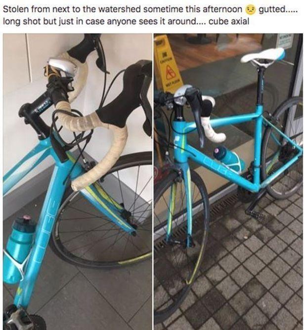 Thông báo bị mất xe của Jenni đăng trên facebook