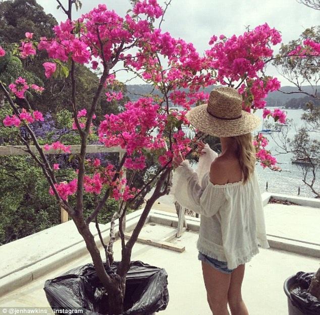 Jake Wall mua tặng vợ một cây hoa giấy xinh đẹp ngay khi ngôi nhà chưa sửa xong