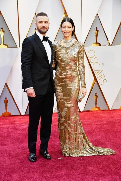 Đôi vợ chồng Justin Timberlake - Jessica Biell cũng có mặt sớm